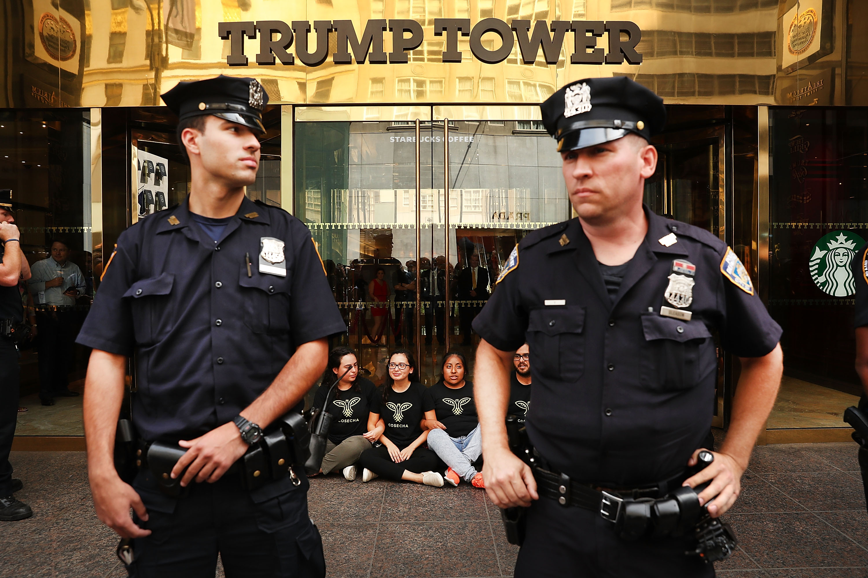 Immigration Activists Protest Outside Trump Tower In New York
