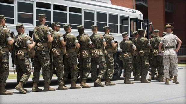 Parris Island Recruits. June 24,2015