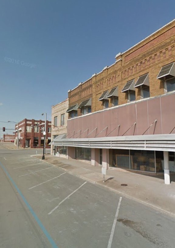 This is Cleveland Street before the quake in Cushing, Okla.