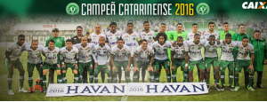 An official 2016 photo from the Associação Chapecoense de Futebol's Facebook page shows the entire first-division Brazilian soccer team. ASSOCIAÇÃO CHAPECOENSE DE FUTEBOL/FACEBOOK