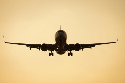 Boeing 737-800 passenger aircraft landing