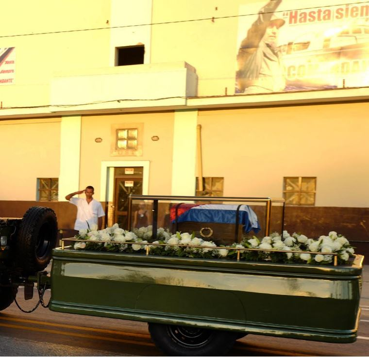 The ashes of Fidel Castro are transported to the Santa Ifigenia Cemetery in Santiago for burial on Sunday (Dec. 4).