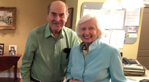 Dr. Henry Heimlich and Patty Gill Ris, who said he saved her life with his technique. Courtesy:  Episcopal Retirement Home