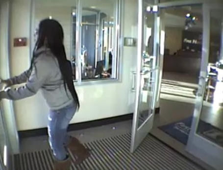 Surveillance camera image of person of interest.
