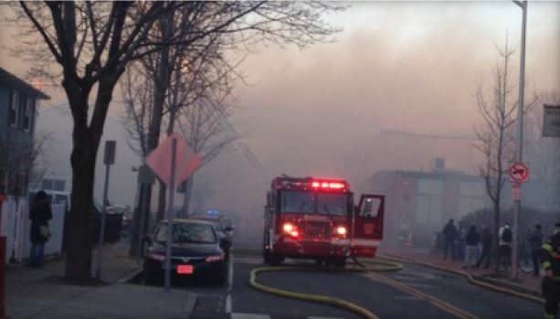 10-alarm fire in Cambridge, Massachusetts