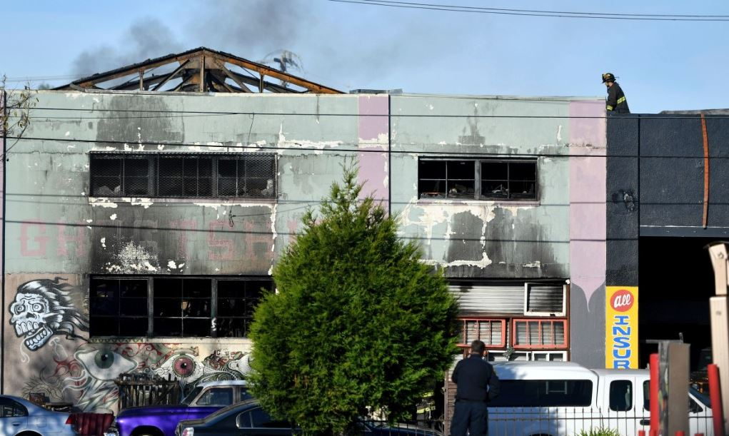 Oakland warehouse fire.