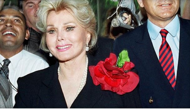 Zsa Zsa Gabor with husband Prince Frederic von Anhalt. Sept. 11, 1989. Getty Images