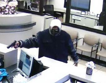 Fayetteville bank robbery suspect.