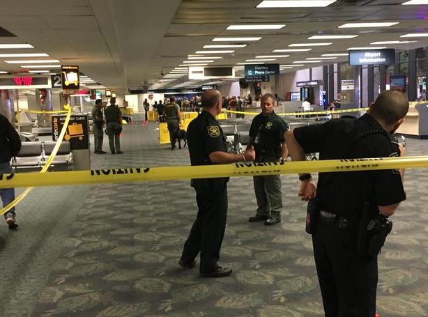 Fort Lauderdale-Hollywood International Airport on Friday after a gunman opened fire. Mark Lea, a Minneapolis financial adviser, was in the baggage claim area at the time of the shooting and captured this photo. (Credit: Mark Lea/CBS).