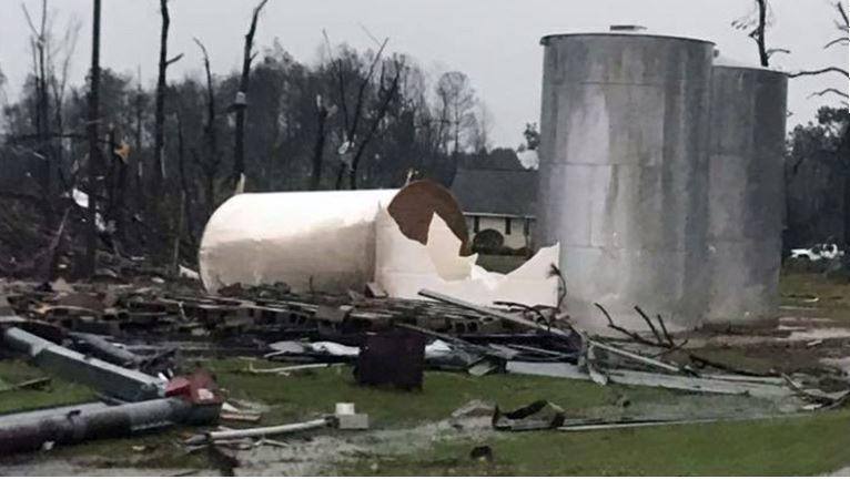 Governor declares a state of emergency in seven south Georgia counties. CNN/Facebook Tiffany Santana.