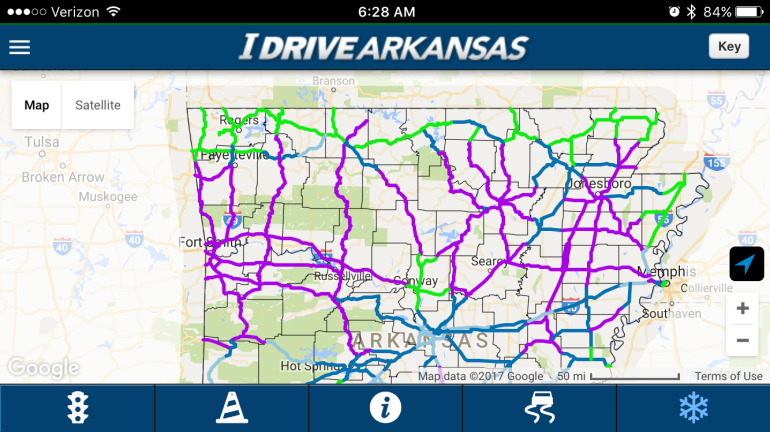 check road conditions on idrive arkansas fort smith fayetteville