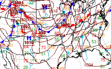 Garretts Blog Who Gets The Ice Storm Heres Where Power Outages - Us fronts map before ice storm