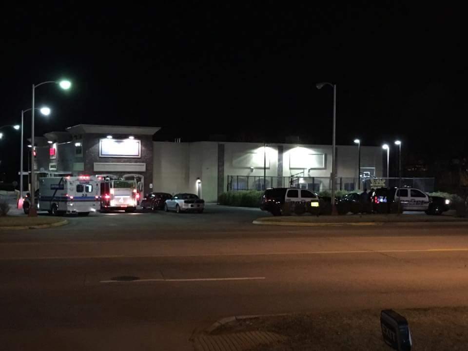 Scene of arrest outside World Gym in Fayetteville.