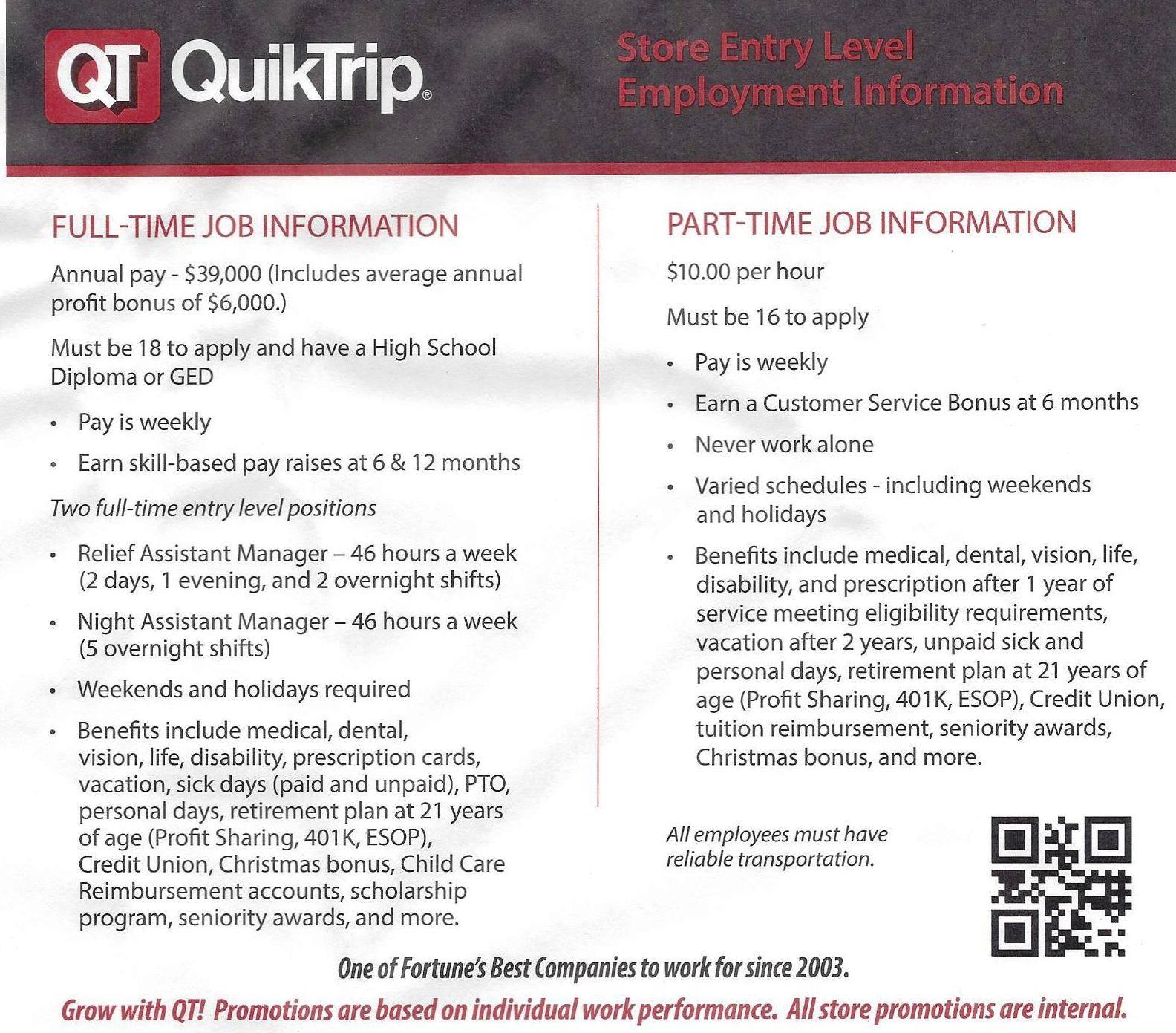 Quiktrip employee oklahoma teacher salary comparison sparks photo gallery xflitez Gallery