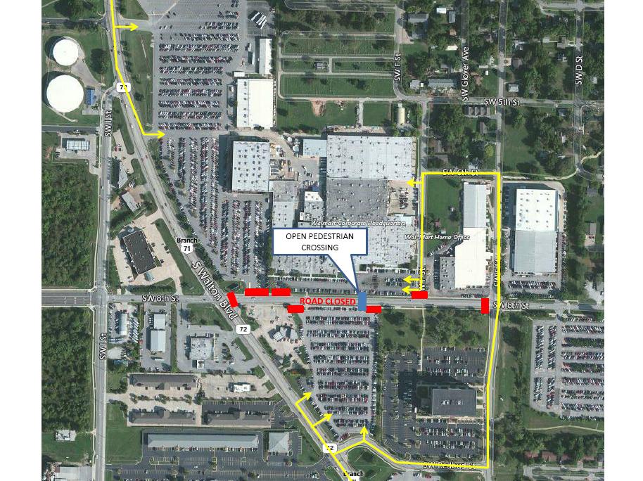 Walmart Corporate Contact >> Road Outside Walmart Headquarters In Bentonville To Shut ...
