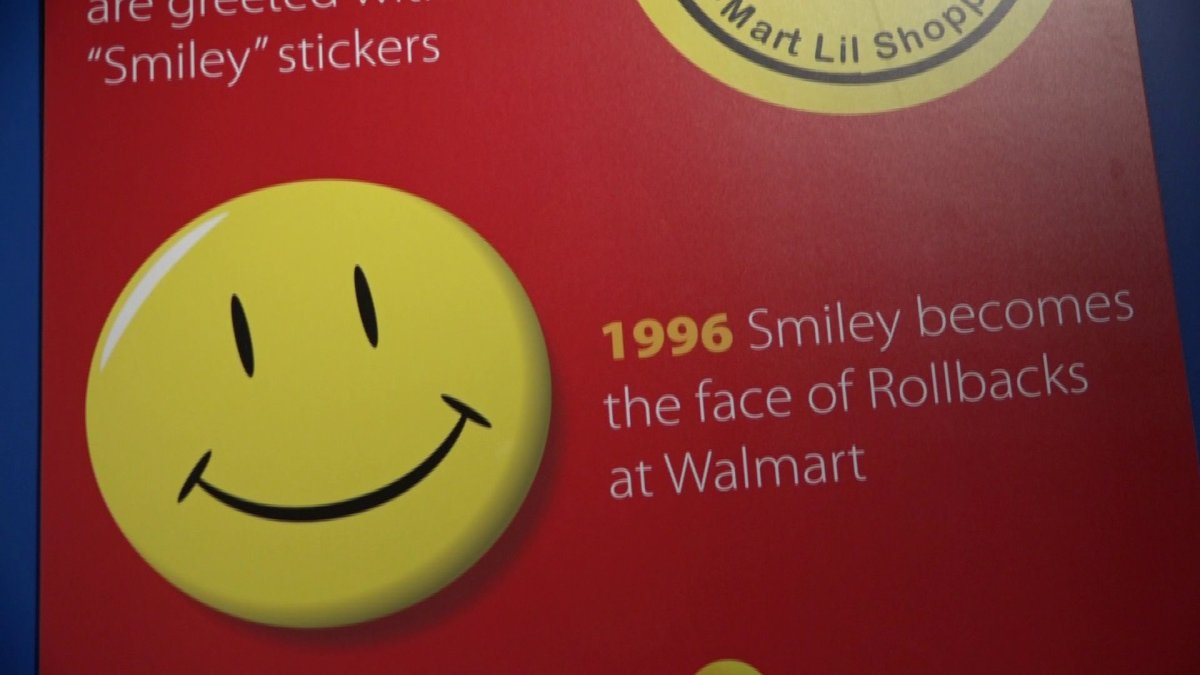 Walmart museum debuts exhibit about iconic smiley face fort smith fayetteville news 5newsonline kfsm 5news