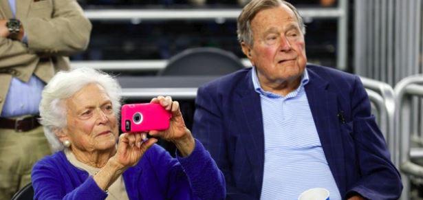 Former First Lady Barbara Bush and former President George H.W. Bush.
