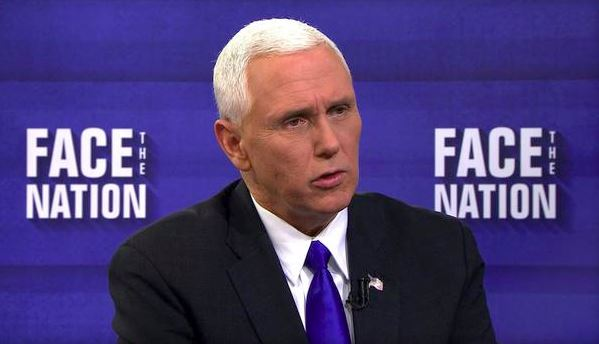 Vice President Mike Pence on CBS' Face the Nation. Feb. 5, 2016.