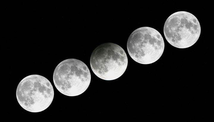 2012 Penumbral Lunar Eclipse From Sky and Telescope. This is what the eclipse tonight will look like; a slight dimming of the Moon.