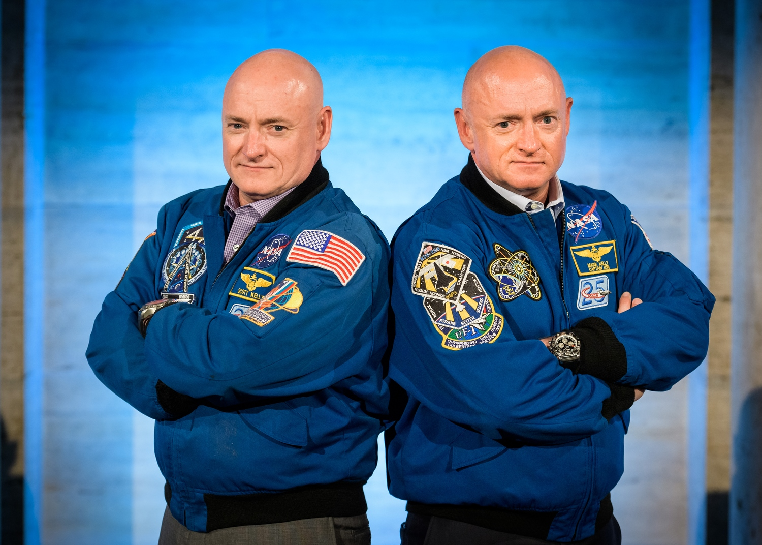 Captain Scott Kelly, History-Making US Astronaut & Retired US Navy Captain and Captain Mark Kelly, Commander of Space Shuttle Endeavour's Final Mission & Space and Aviation Contributor for NBC News/MSNBC at The 2016 Goldman Sachs Professional Investor Forum, The Path To Opportunity for Cross Channel in NYC; 5/12/16