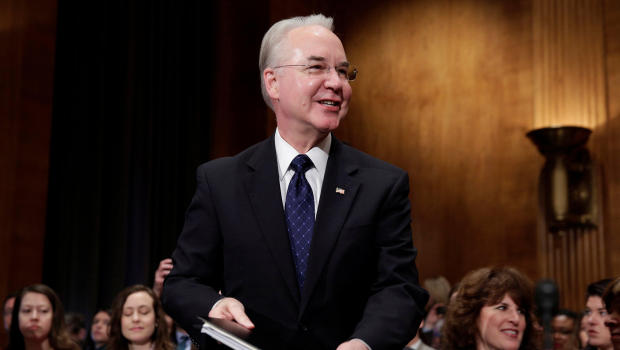 Rep. Tom Price (R-GA) arrives to testify before the Senate Health, Education, Labor and Pensions Committee on his nomination to be Health and Human Services secretary in Washington, U.S., January 18, 2017. REUTERS/Joshua Roberts