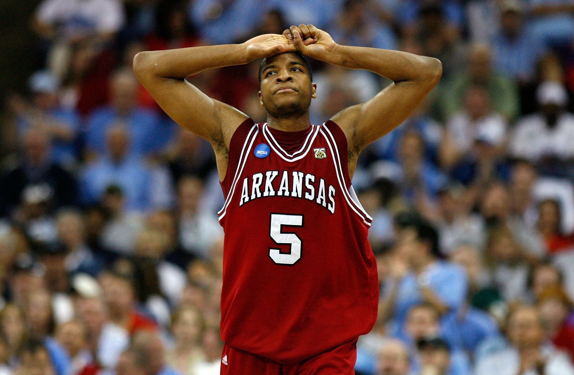 Arkansas' recent woes against North Carolina began in the 2008 tournament, when the Tar Heels rolled the Razorbacks 108-77 in the second round.