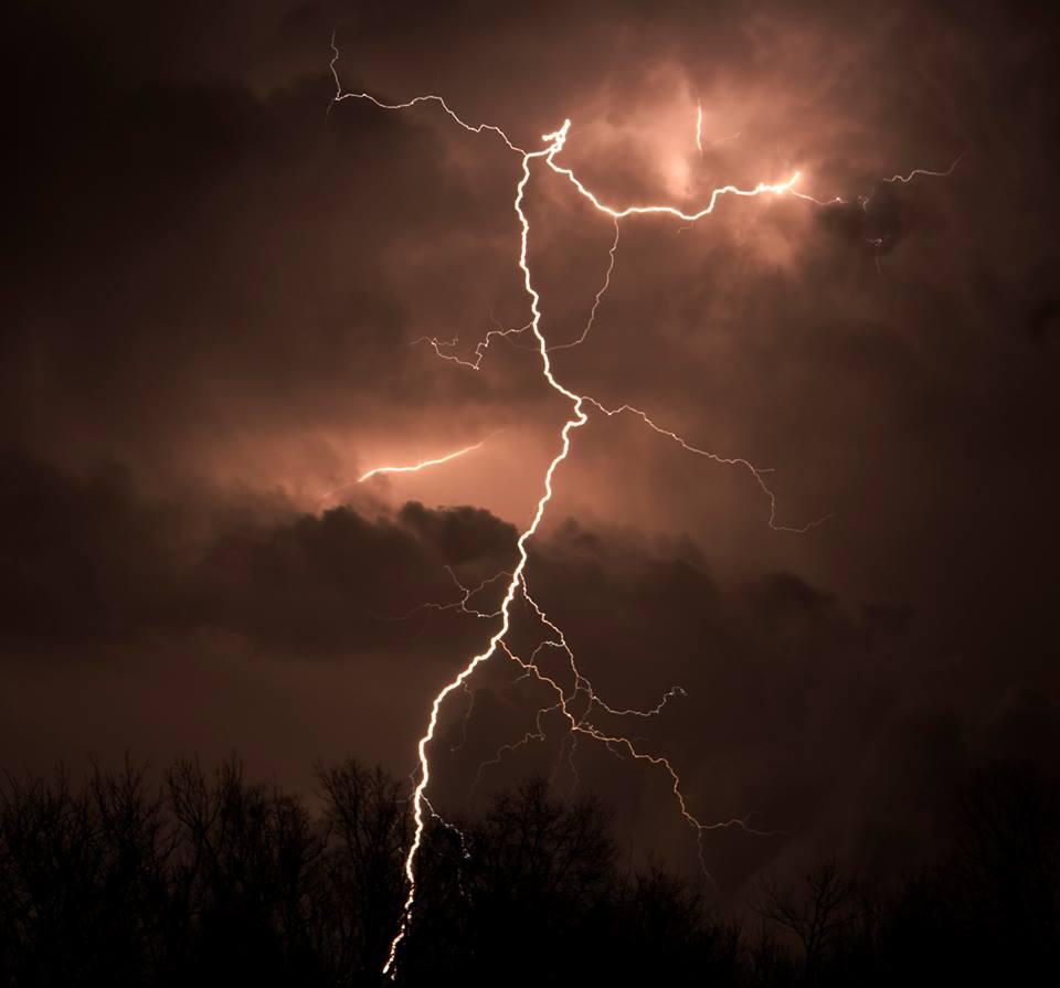 Lightning near Rock Island. Courtesy: 5NEWS Viewer Danny Wiley