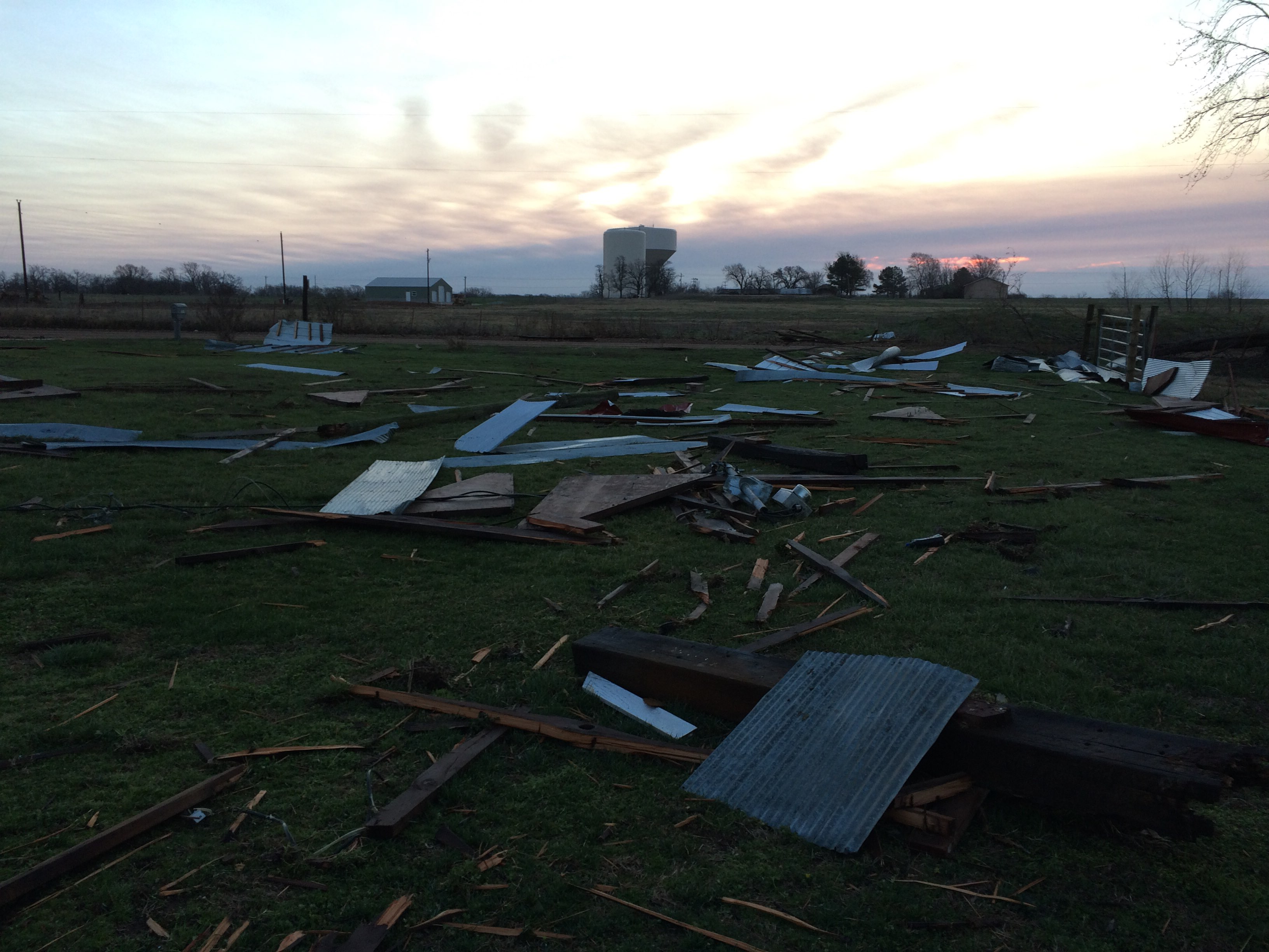 Barn Destroyed about a mile north of Bentonville West.  From 5NEWS viewer Theresa Hatcher