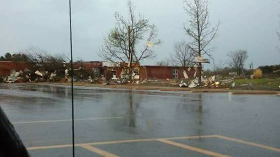 Suspected tornado damages school, fire house in Missouri