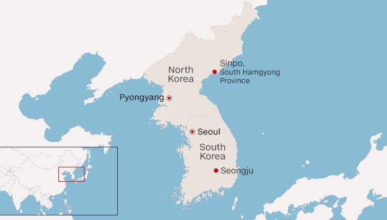 South Korean and US intelligence officials are trying to determine what type of missile was used Sunday