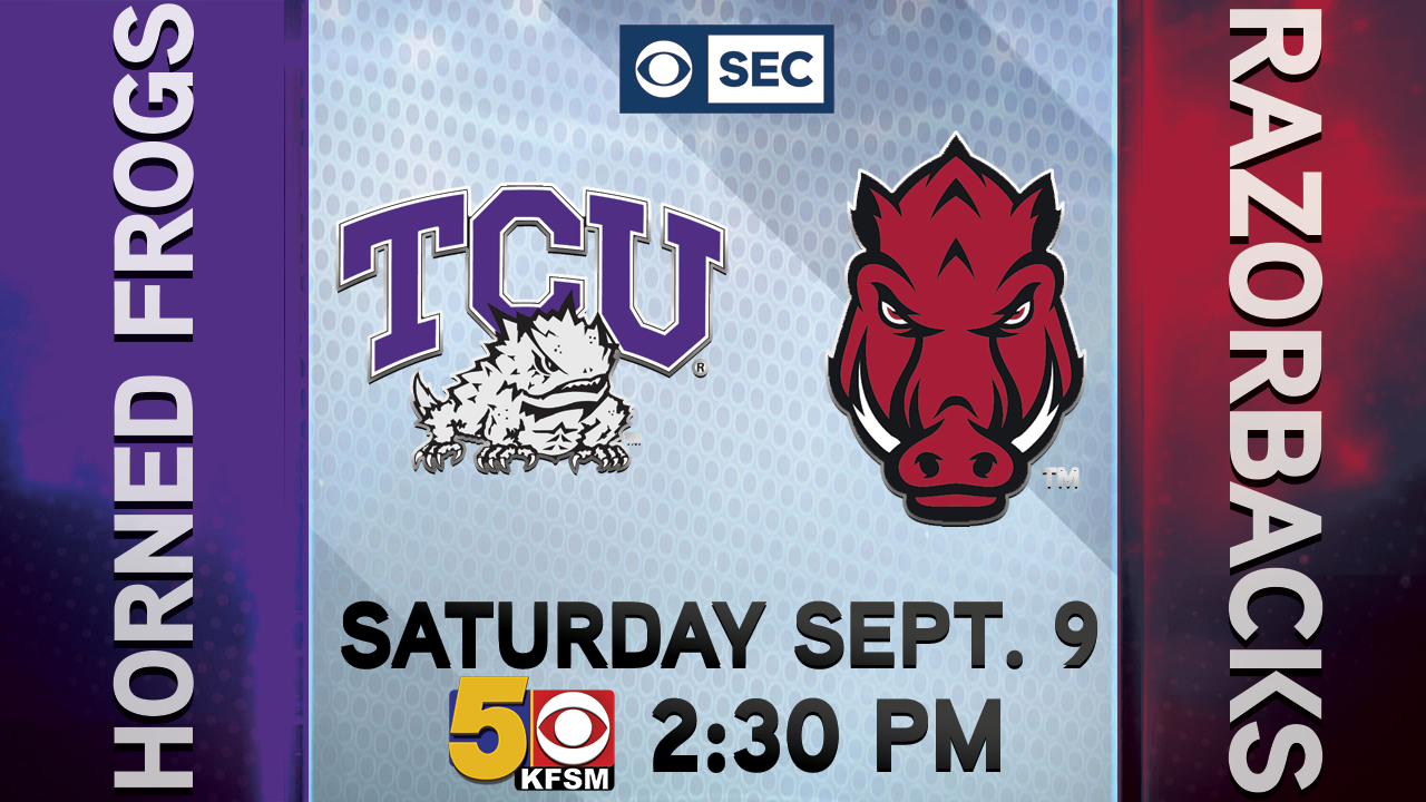 TCU at Arkansas Gets Kickoff Time on CBS September 9th