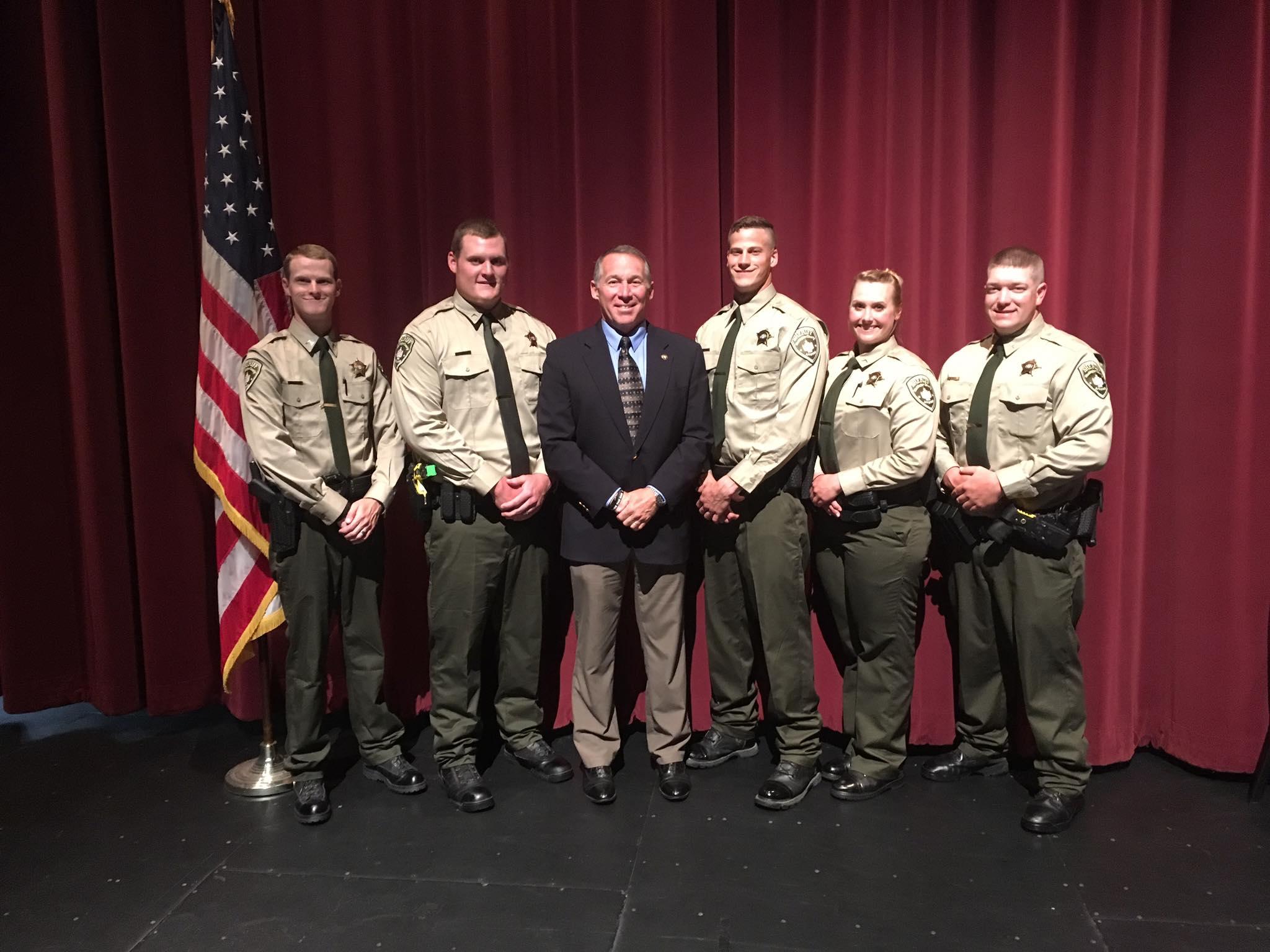 DFC Byron Steffen Flickinger, DFC Mitch Smothers, Sheriff Helder, DFC Justin Bocchino, DFC Leigh Anne Brewer, Corporal Chris Smith