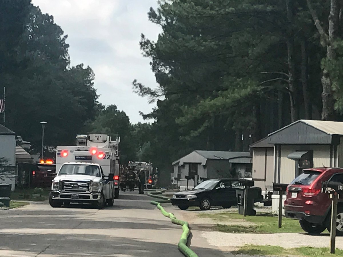Fayetteville Firefighters Puts Out Fire In Country Lane Mobile Home Park