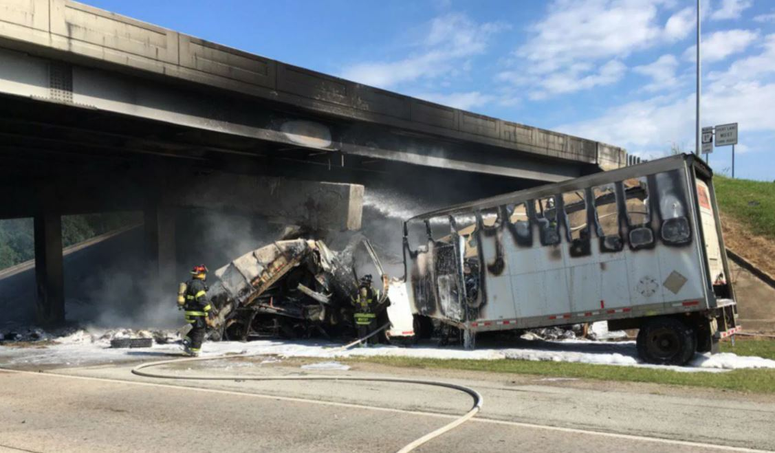 Driver killed in overpass explosion, detours on I-555/Harrisburg Rd