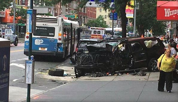Harlem crash leaves several pedestrians injured, officials say