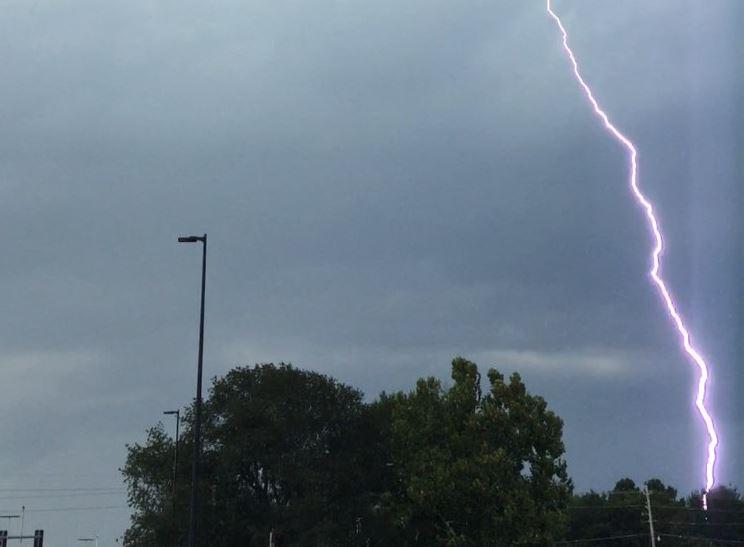 Booneville, Arkansas lightning.  Courtesy Rachael Horine.
