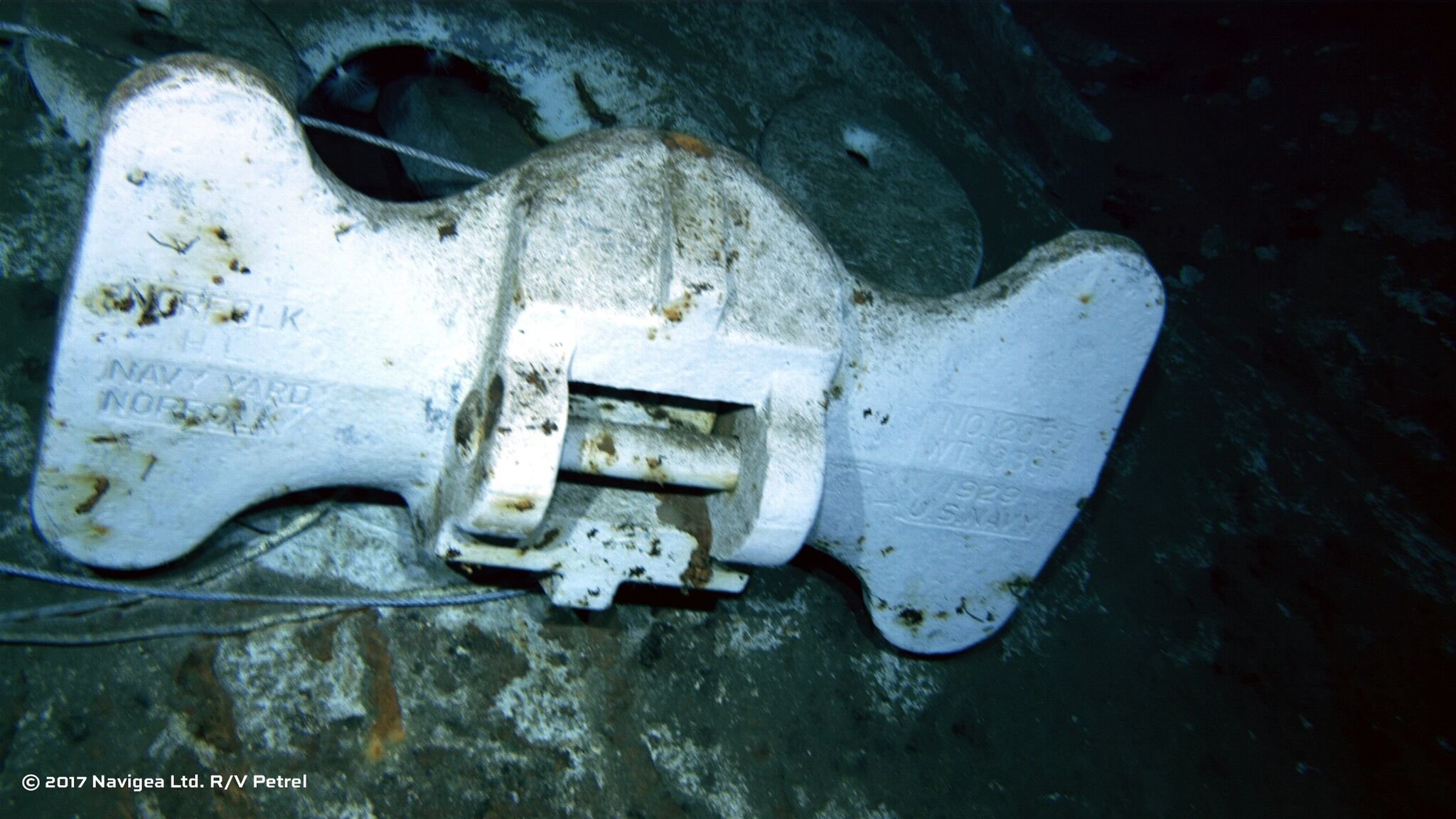 Wreckage from the USS Indianapolis was discovered on Aug. 18 by the expedition crew of Paul G. Allen's Research Vessel (R/V) Petrel.