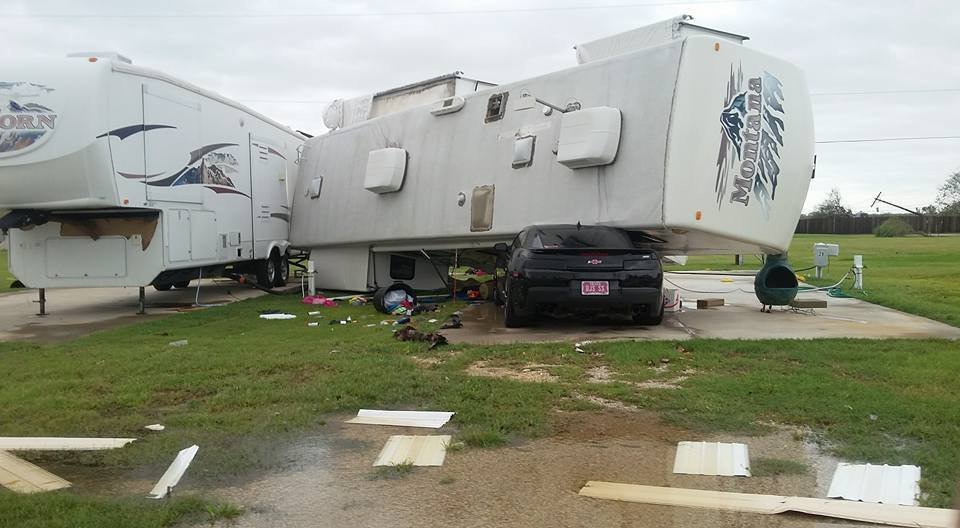 Hurricane Harvey damage Aransas Pass, Texas after Hurricane Harvey