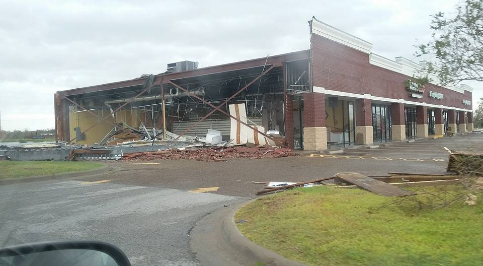 Hurricane Harvey damage Aransas Pass, Texas after Hurricane Harvey