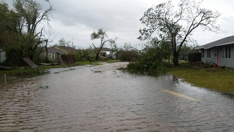 Hurricane Harvey damage Aransas Pass, Texas.