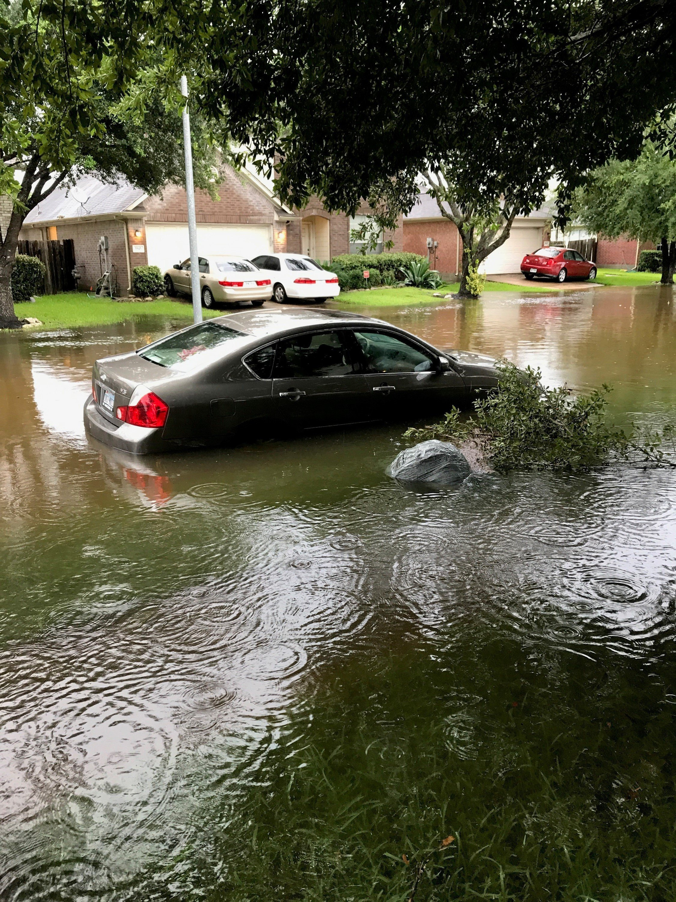 Flooding in Fresno Texas following Hurricane Harvey