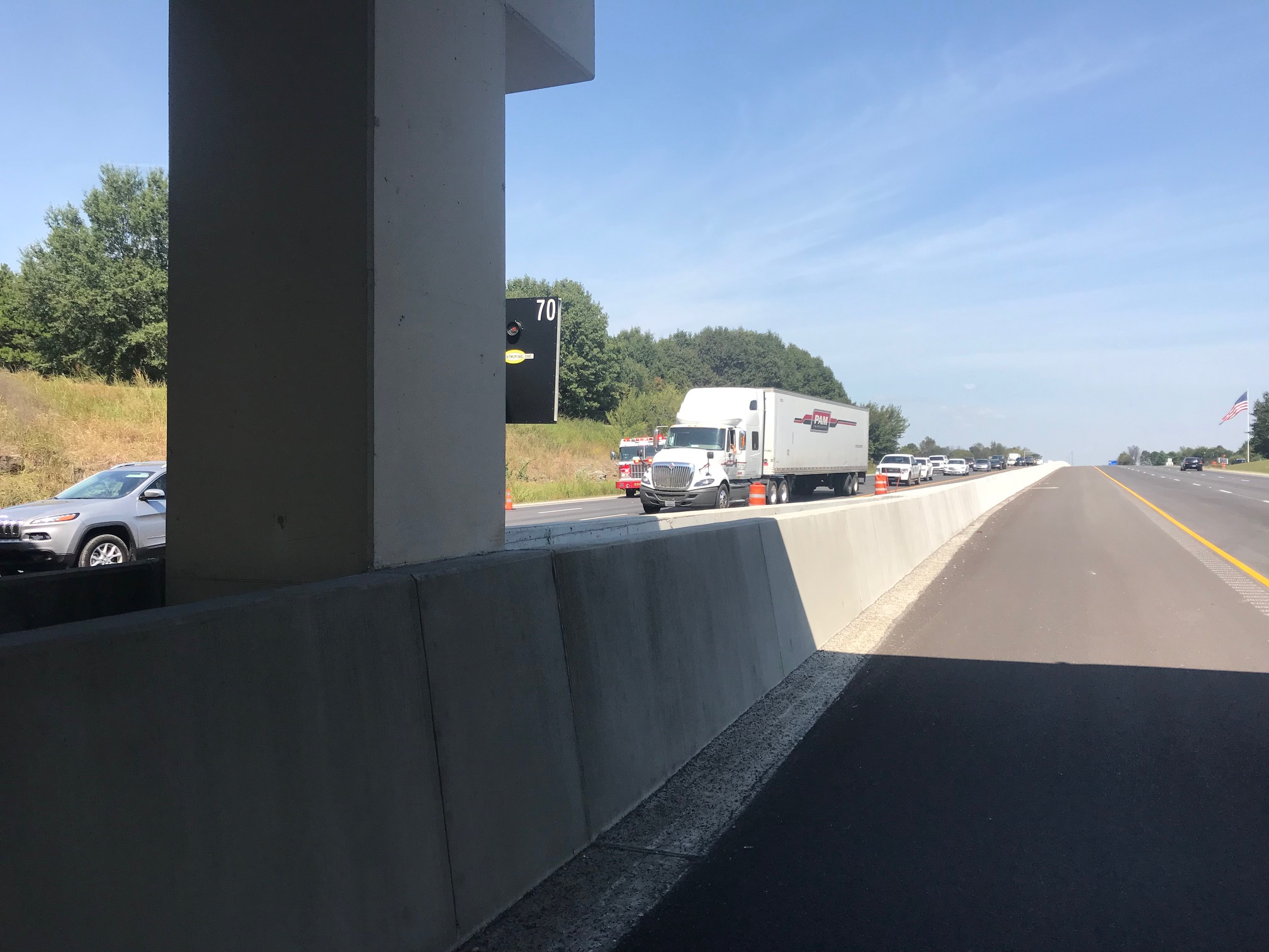 Accident I-49 South in Lowell.