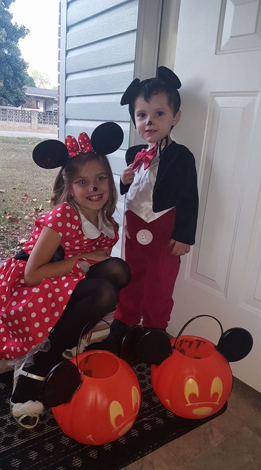 Alexis and Keegan dressed as Mickey and Minnie. Photo sent in by Lauren Garrett.