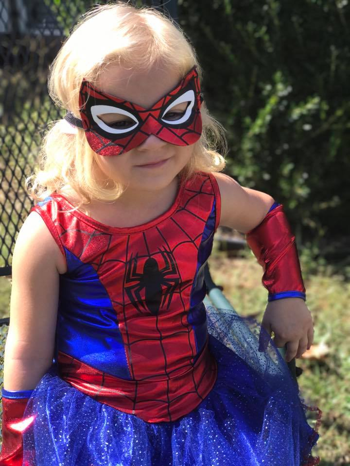 DaNelle dressed as Spider-Girl. Photo sent in by Judy Parks.