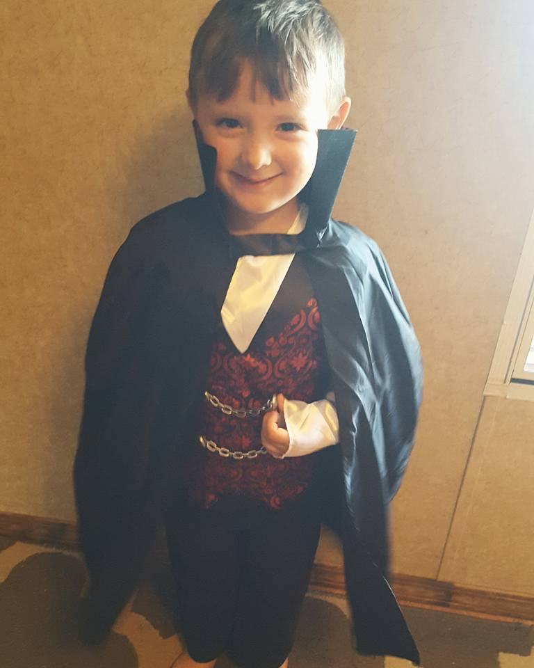 William as a vampire. Photo sent in by Sarah Mcnabb.