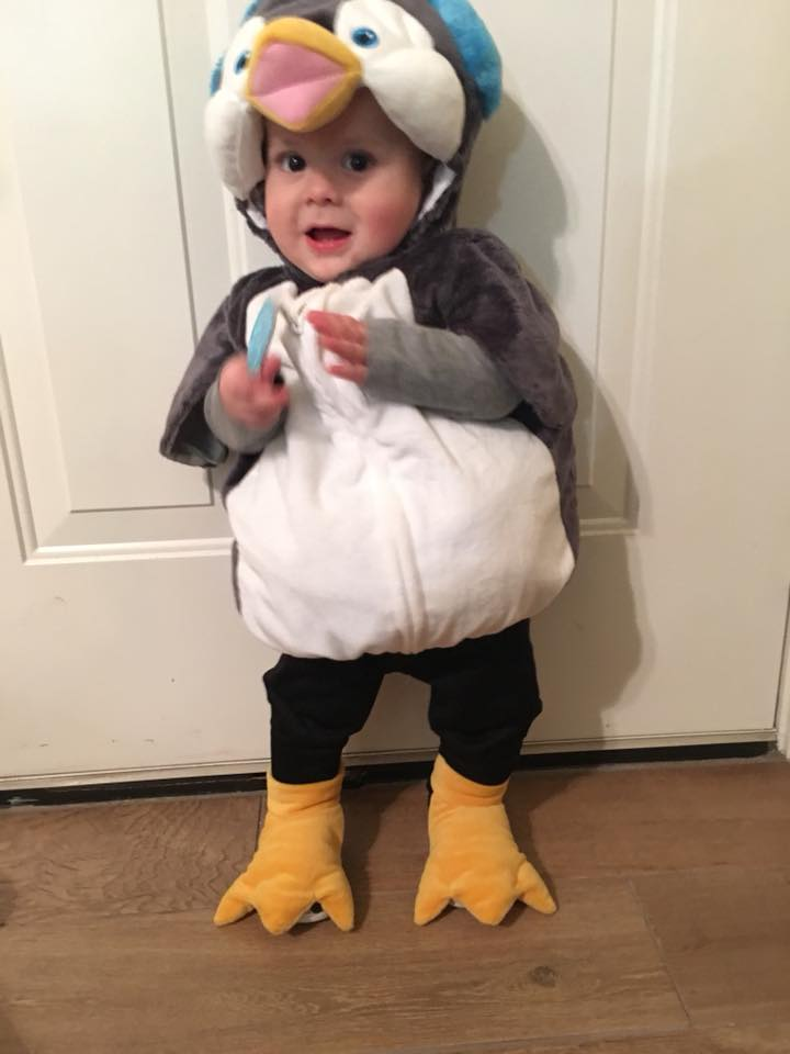 Adrian Axel dressed as a penguin. Photo sent in by Carmen Garcia.