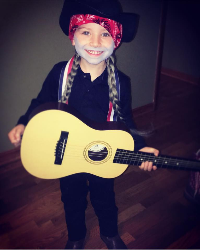 Lane as Willie Nelson. Photo sent in by Paige Stith.
