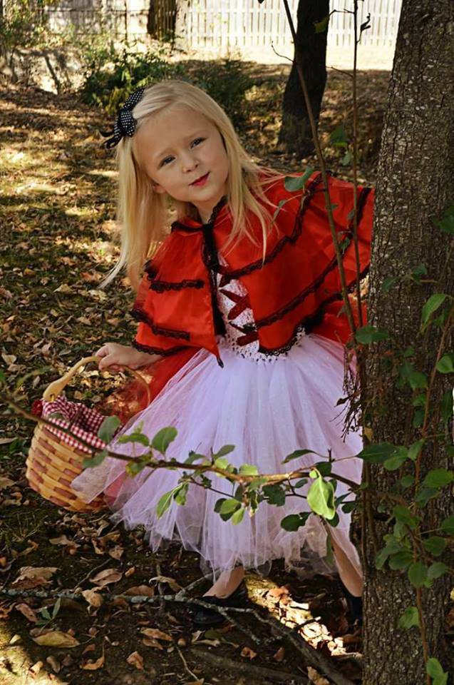 Aleah as Little Red Riding Hood. Photo sent in by Sierra Pittman.