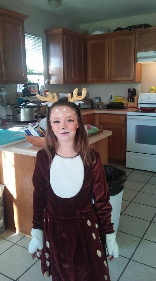 Piper as a reindeer. Photo by Melissa Felton.