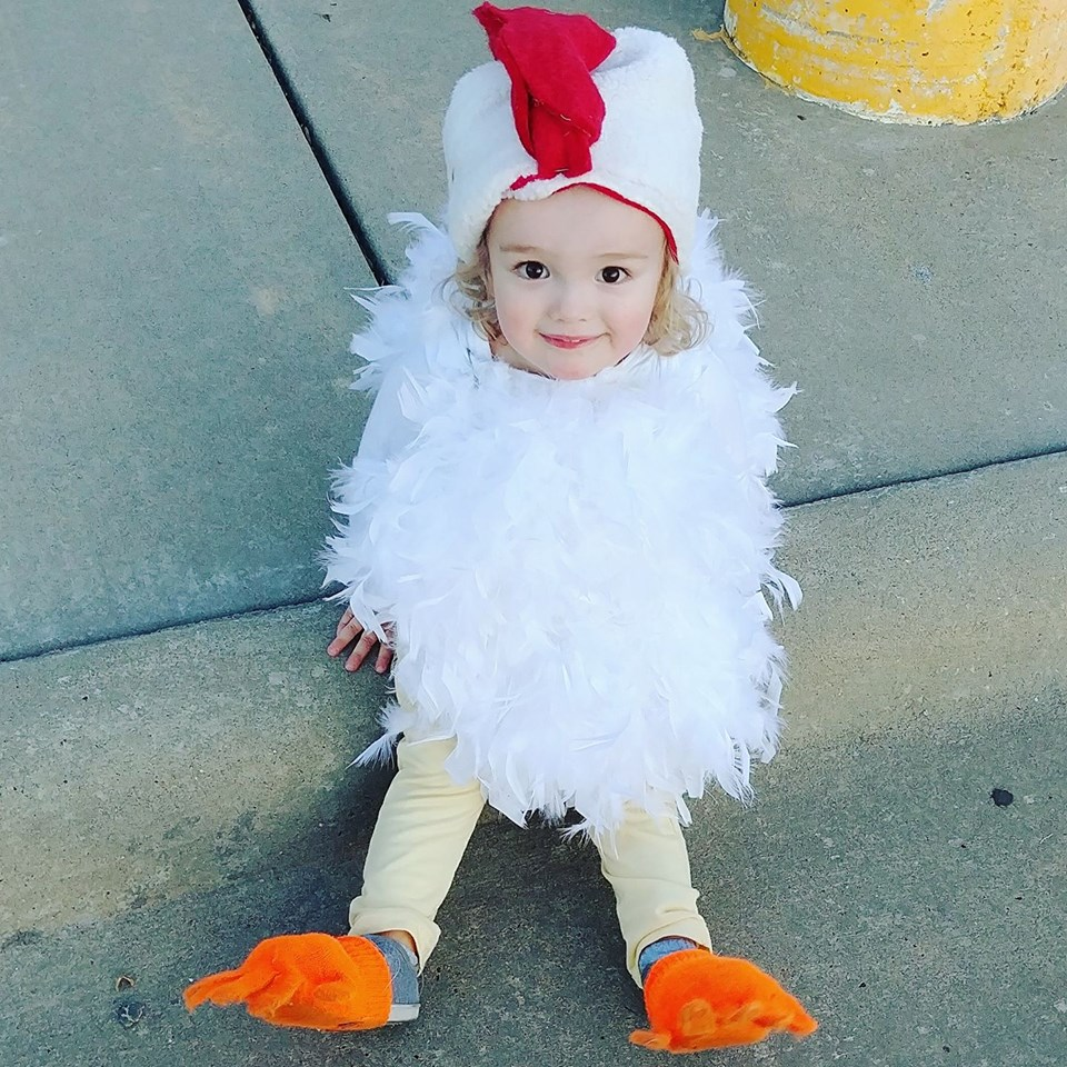 Asher as a little chicken. Photo sent in by Ashley Moad.